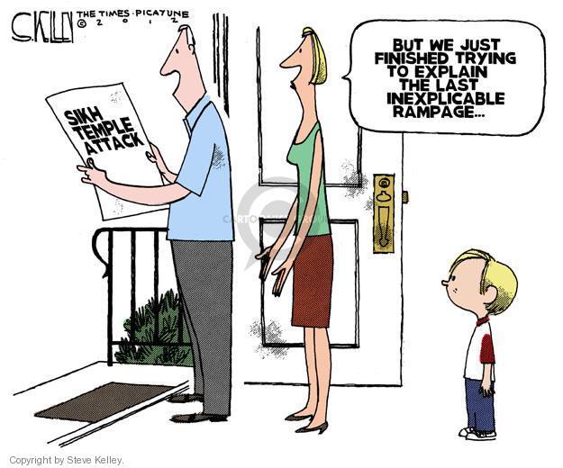Cartoonist Steve Kelley  Steve Kelley's Editorial Cartoons 2012-08-07 rage