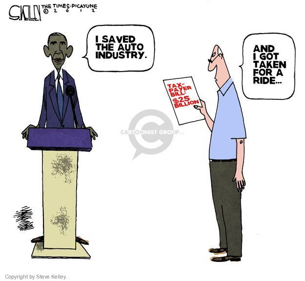 Steve Kelley  Steve Kelley's Editorial Cartoons 2012-08-19 Obama economy