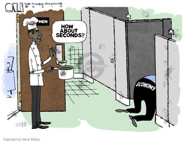 Steve Kelley  Steve Kelley's Editorial Cartoons 2012-09-08 Obama economy