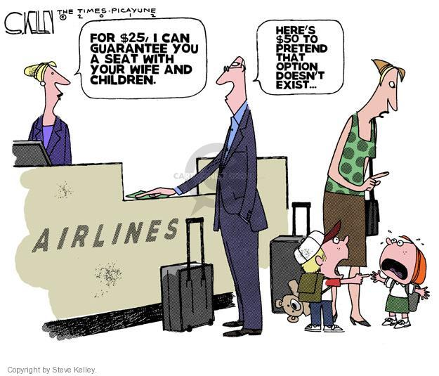 Steve Kelley  Steve Kelley's Editorial Cartoons 2012-09-21 airplane travel
