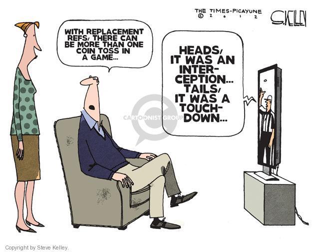 Cartoonist Steve Kelley  Steve Kelley's Editorial Cartoons 2012-09-26 football game
