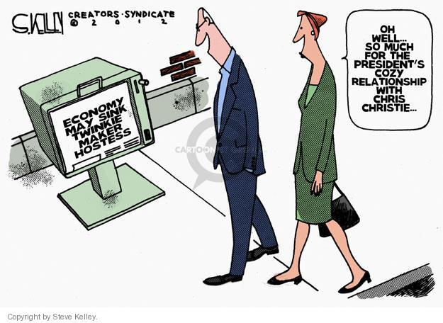 Steve Kelley  Steve Kelley's Editorial Cartoons 2012-11-14 Obama economy