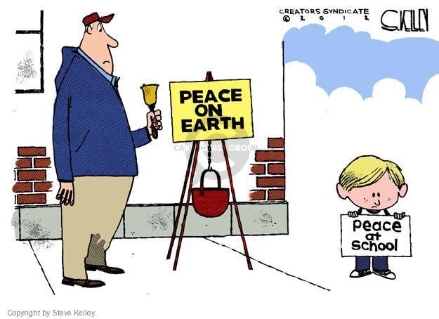 Steve Kelley  Steve Kelley's Editorial Cartoons 2012-12-16 peace