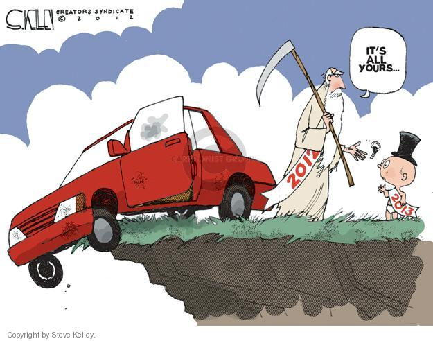 Steve Kelley  Steve Kelley's Editorial Cartoons 2012-12-31 2012