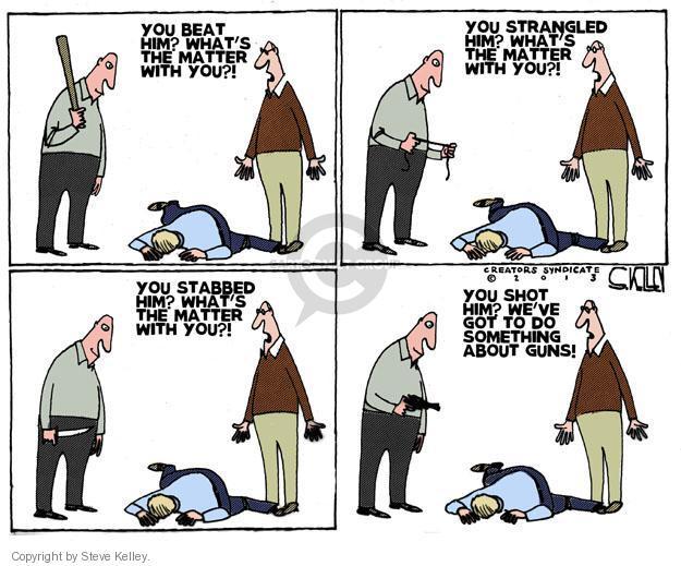Cartoonist Steve Kelley  Steve Kelley's Editorial Cartoons 2013-01-09 gun rights