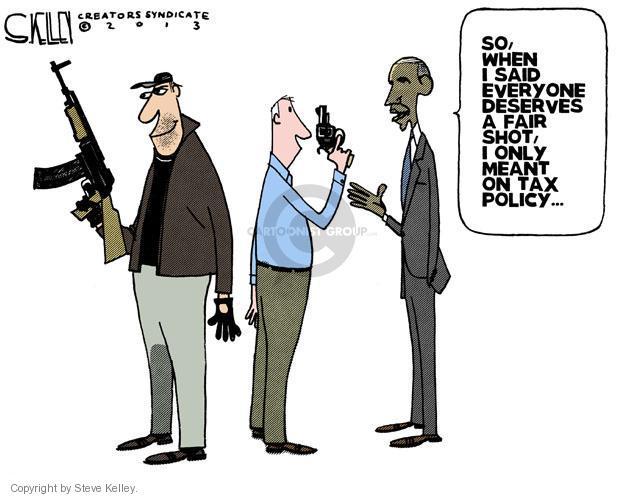 Steve Kelley  Steve Kelley's Editorial Cartoons 2013-01-17 assault weapon