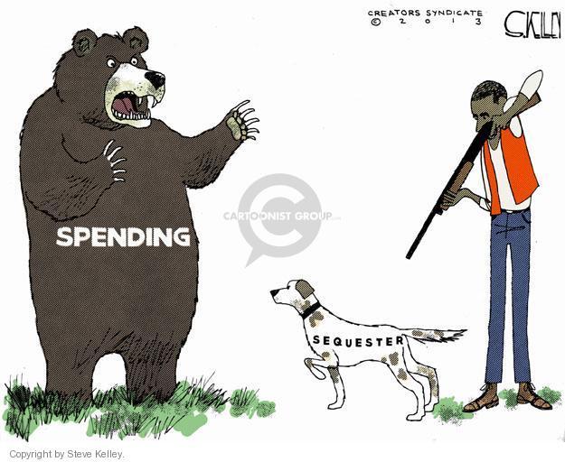 Steve Kelley  Steve Kelley's Editorial Cartoons 2013-03-05 federal budget