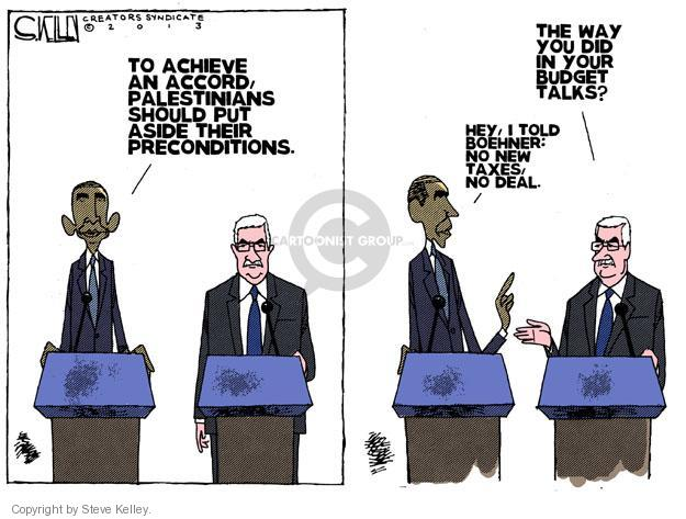 Cartoonist Steve Kelley  Steve Kelley's Editorial Cartoons 2013-03-22 negotiation