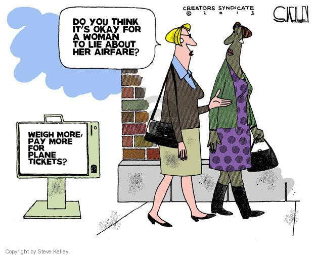 Steve Kelley  Steve Kelley's Editorial Cartoons 2013-04-04 airplane travel