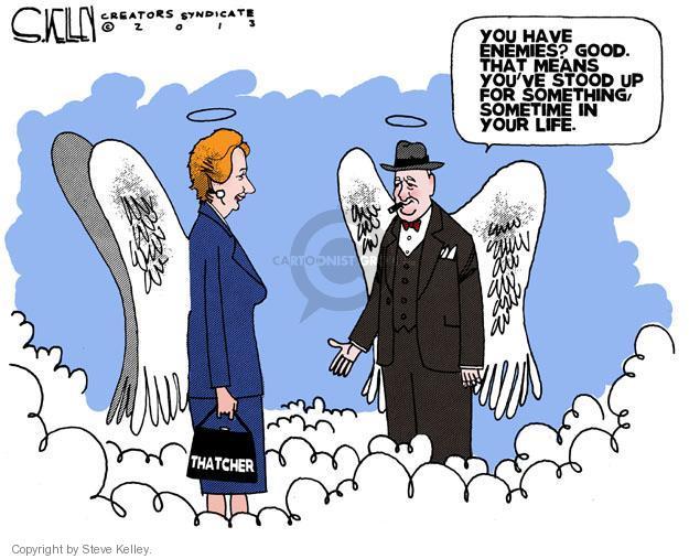 Steve Kelley  Steve Kelley's Editorial Cartoons 2013-04-09 Winston Churchill