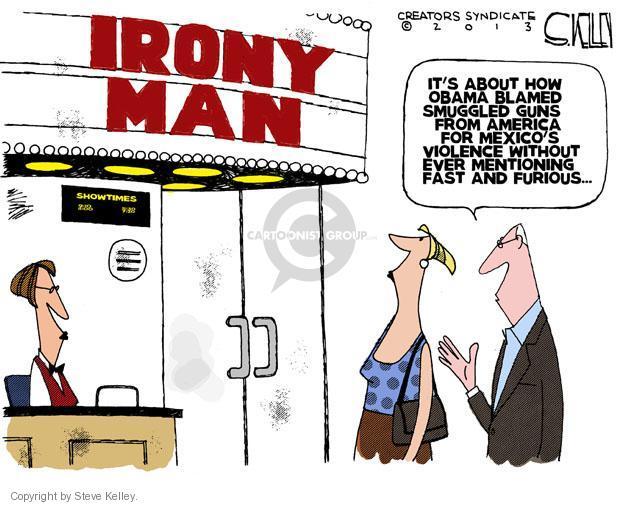 Cartoonist Steve Kelley  Steve Kelley's Editorial Cartoons 2013-05-06 weaponry