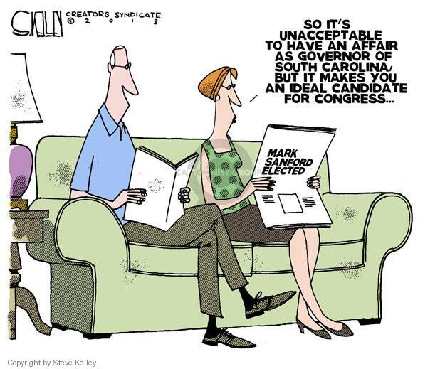 Cartoonist Steve Kelley  Steve Kelley's Editorial Cartoons 2013-05-09 congress election