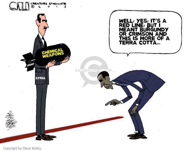 Cartoonist Steve Kelley  Steve Kelley's Editorial Cartoons 2013-06-14 weaponry