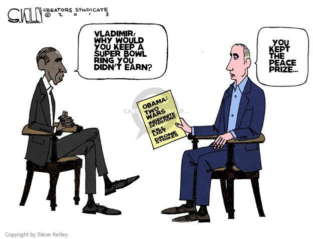 Steve Kelley  Steve Kelley's Editorial Cartoons 2013-06-20 peace