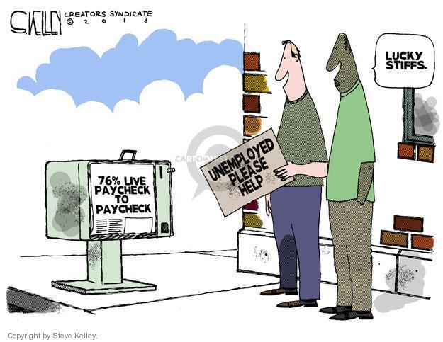 Cartoonist Steve Kelley  Steve Kelley's Editorial Cartoons 2013-06-26 unemployment