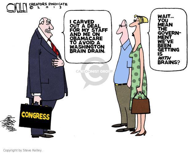 Cartoonist Steve Kelley  Steve Kelley's Editorial Cartoons 2013-08-08 congress health care
