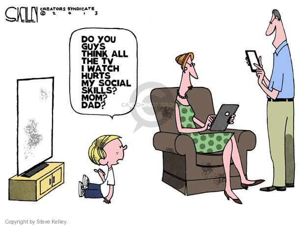 Steve Kelley  Steve Kelley's Editorial Cartoons 2013-08-13 technology distraction