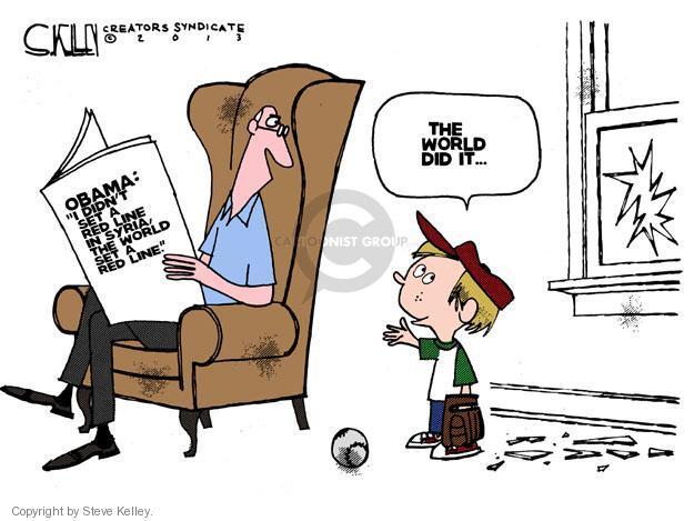 Cartoonist Steve Kelley  Steve Kelley's Editorial Cartoons 2013-09-05 red