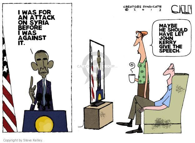 Cartoonist Steve Kelley  Steve Kelley's Editorial Cartoons 2013-09-11 speak