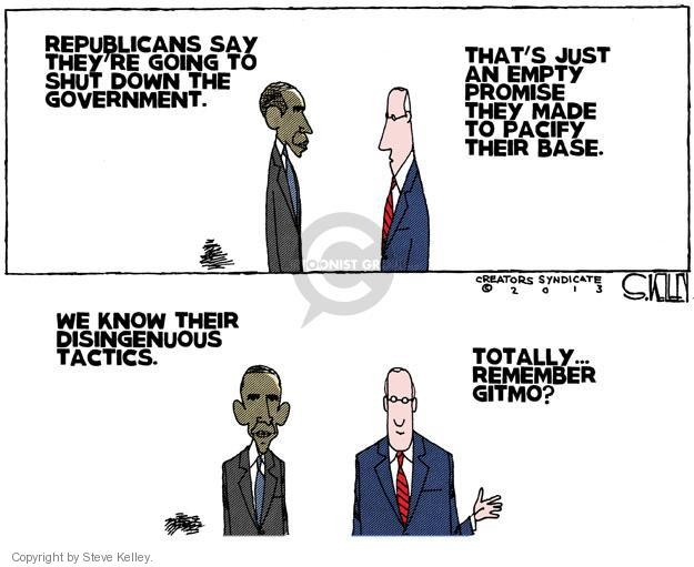 Cartoonist Steve Kelley  Steve Kelley's Editorial Cartoons 2013-09-26 negotiation