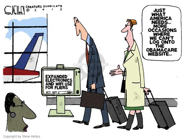 Steve Kelley  Steve Kelley's Editorial Cartoons 2013-11-03 airplane travel