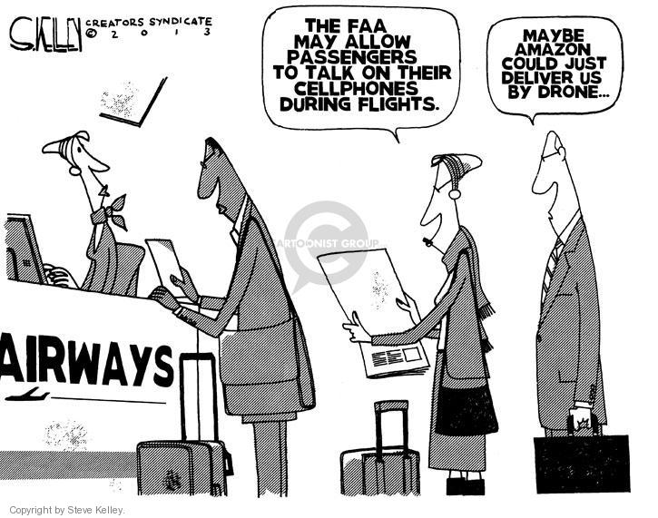 Steve Kelley  Steve Kelley's Editorial Cartoons 2013-12-16 air travel