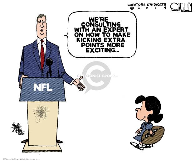Cartoonist Steve Kelley  Steve Kelley's Editorial Cartoons 2014-01-23 football game