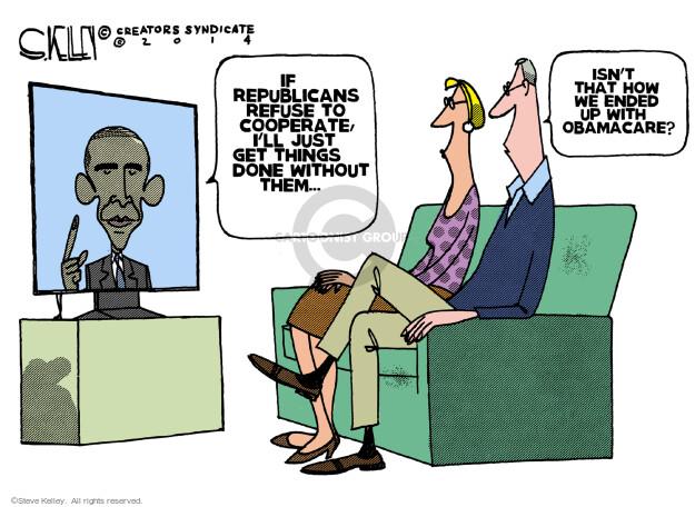 Steve Kelley  Steve Kelley's Editorial Cartoons 2014-01-31 Obamacare