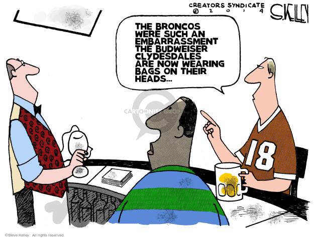 Cartoonist Steve Kelley  Steve Kelley's Editorial Cartoons 2014-02-03 football game