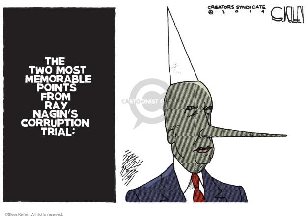 Cartoonist Steve Kelley  Steve Kelley's Editorial Cartoons 2014-02-13 corruption