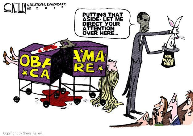 Steve Kelley  Steve Kelley's Editorial Cartoons 2014-02-27 Obamacare
