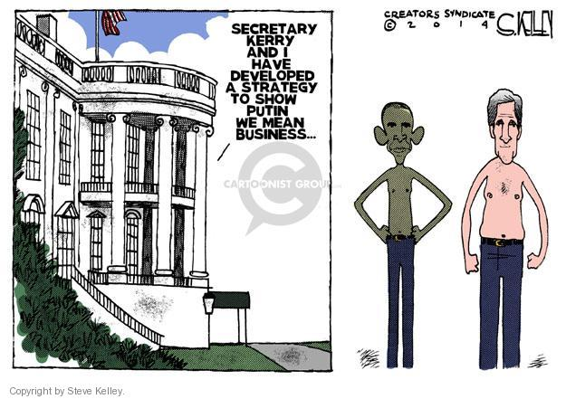 Cartoonist Steve Kelley  Steve Kelley's Editorial Cartoons 2014-03-04 military
