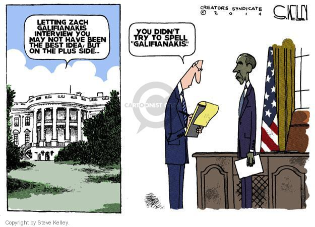 Cartoonist Steve Kelley  Steve Kelley's Editorial Cartoons 2014-03-12 Oval Office