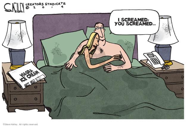 Steve Kelley  Steve Kelley's Editorial Cartoons 2014-04-14 scream