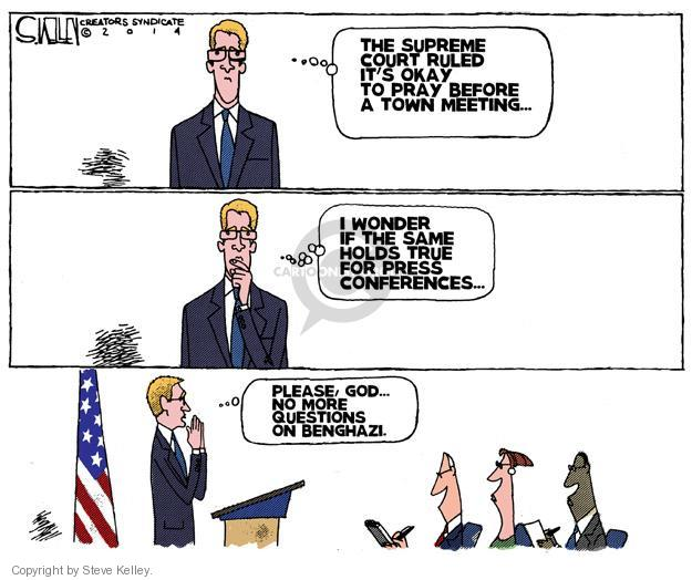 Steve Kelley  Steve Kelley's Editorial Cartoons 2014-05-06 Supreme Court