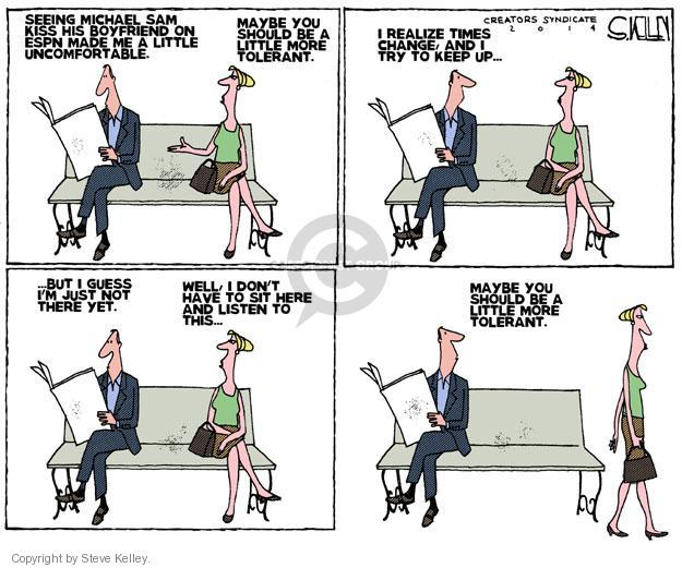 Steve Kelley  Steve Kelley's Editorial Cartoons 2014-05-13 Sam