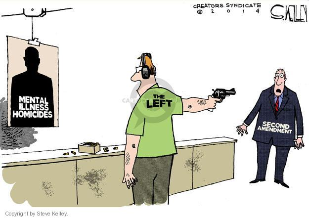 Cartoonist Steve Kelley  Steve Kelley's Editorial Cartoons 2014-05-28 shooting