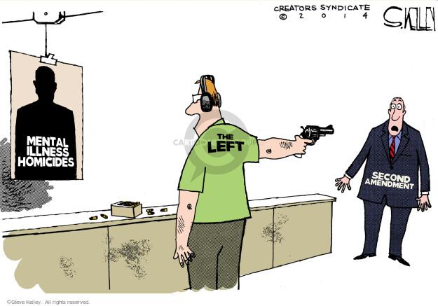 Cartoonist Steve Kelley  Steve Kelley's Editorial Cartoons 2014-05-28 gun rights