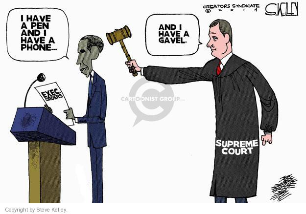 Steve Kelley  Steve Kelley's Editorial Cartoons 2014-07-01 Supreme Court