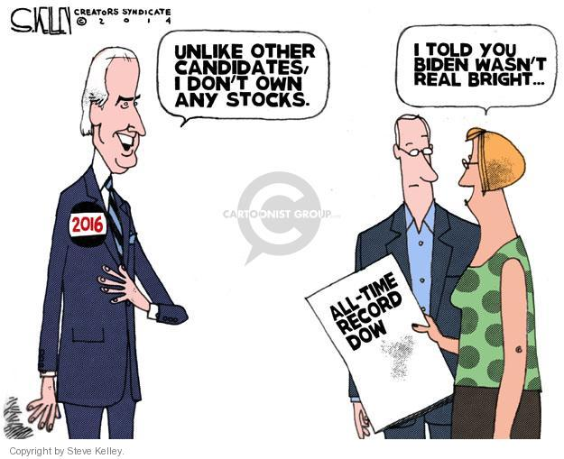 Steve Kelley  Steve Kelley's Editorial Cartoons 2014-07-04 Joe Biden