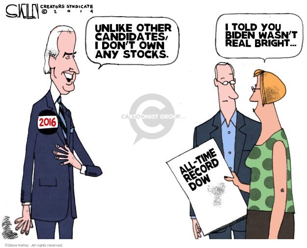 Steve Kelley  Steve Kelley's Editorial Cartoons 2014-07-04 2016 Election Joe Biden