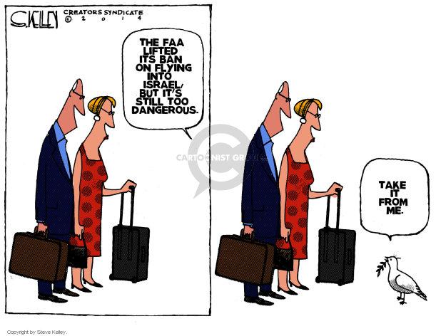 Steve Kelley  Steve Kelley's Editorial Cartoons 2014-07-30 Israel
