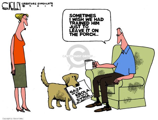 Cartoonist Steve Kelley  Steve Kelley's Editorial Cartoons 2014-08-06 dog training
