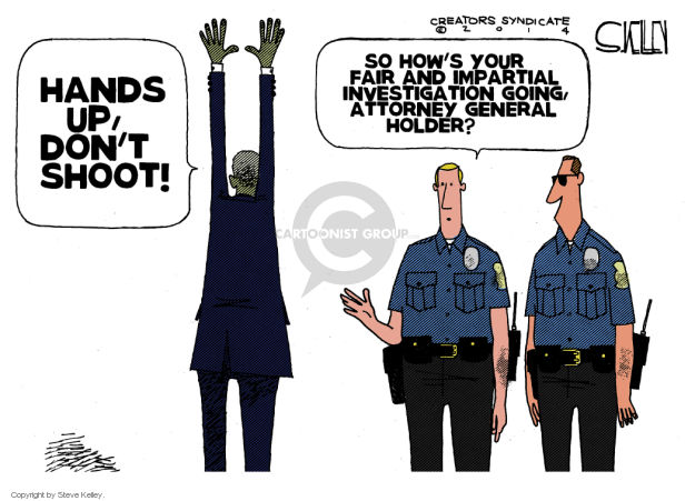 Steve Kelley  Steve Kelley's Editorial Cartoons 2014-08-21 racism