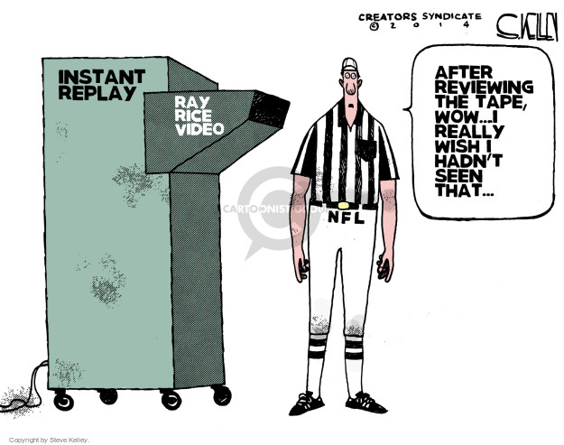 Steve Kelley  Steve Kelley's Editorial Cartoons 2014-09-09 football player