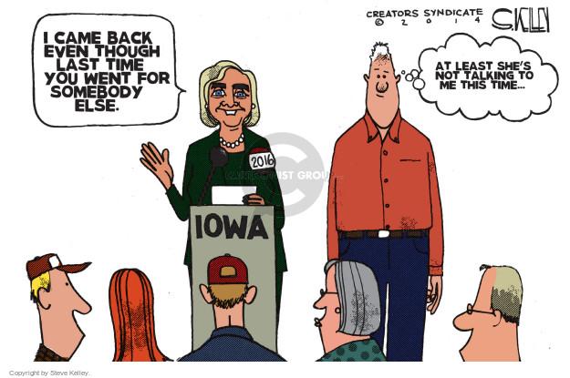 Cartoonist Steve Kelley  Steve Kelley's Editorial Cartoons 2014-09-15 2008 election