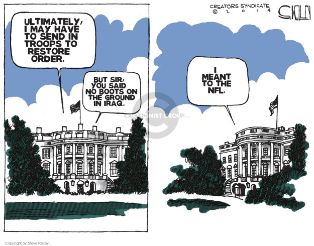 Cartoonist Steve Kelley  Steve Kelley's Editorial Cartoons 2014-09-17 military