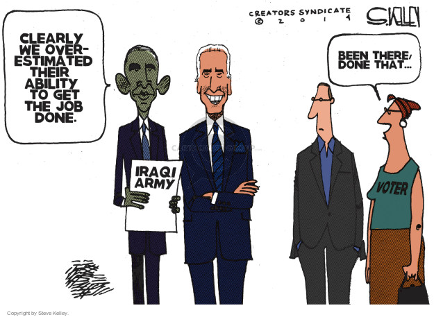 Cartoonist Steve Kelley  Steve Kelley's Editorial Cartoons 2014-09-30 military