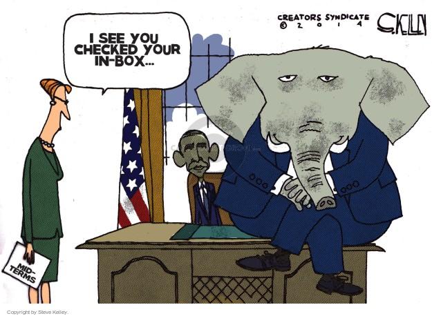 Cartoonist Steve Kelley  Steve Kelley's Editorial Cartoons 2014-11-05 Oval Office