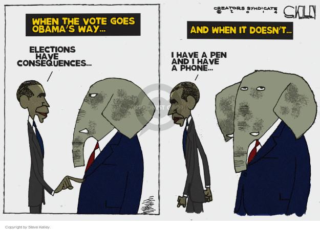 Cartoonist Steve Kelley  Steve Kelley's Editorial Cartoons 2014-11-07 election